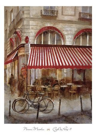 Cafe De Paris II poster print by Noemi Martin