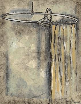 Antique Bath II poster print by Ruth Bush