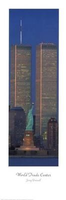 New York-Towers Statue poster print by Jerry Driendl