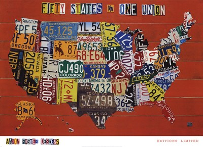 Fifty States, One Nation poster print by Aaron Foster