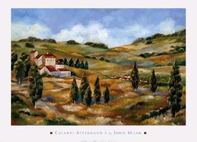 Chianti Afternoon I poster print by John Milan