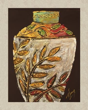 Sumach Leaf Pottery poster print by  Thompson