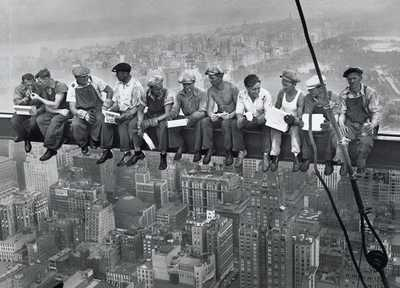 B-W - Lunch On Skyscraper poster print by Charles C. Ebbets