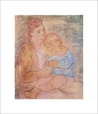 Mother And Child poster print by Pablo Picasso