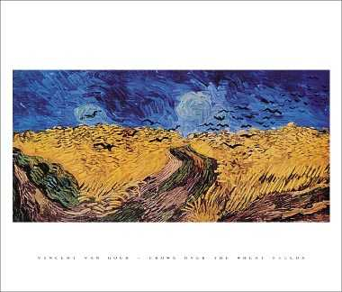 Crows Over The Wheat Field poster print by Vincent van Gogh