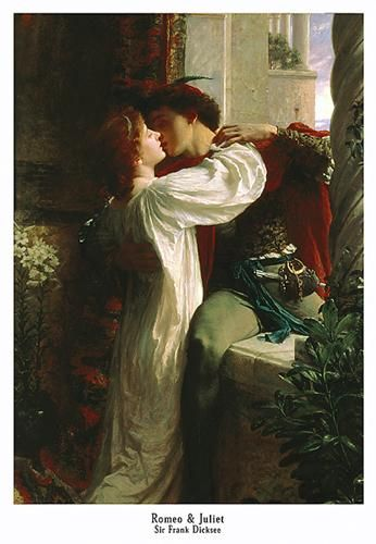 Romeo and Juliet poster print by Sir Frank Herbe Dicksee