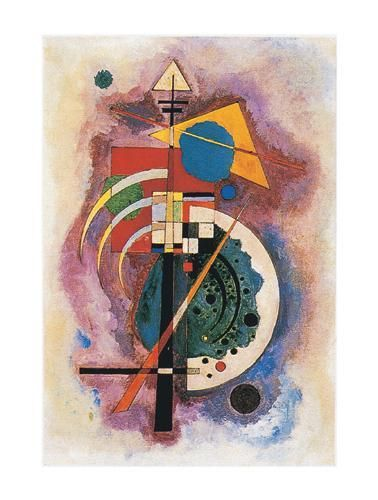 Hommage to Grohmann poster print by Wassily Kandinsky