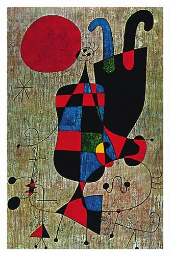 Inverted poster print by Joan Miro