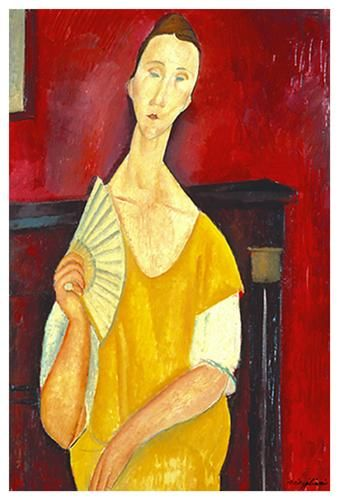 Woman With a Fan poster print by Amedeo Modigliani