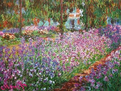 Jardin De Giverny poster print by Claude Monet