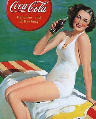 Coca-Cola Girl in Bathing Suit poster print by  Vintage