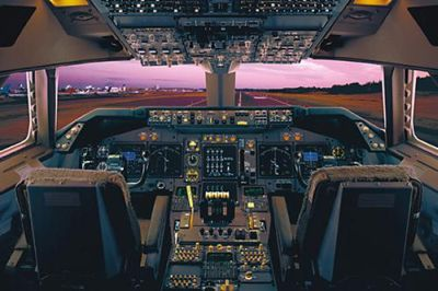 Airplane - Boeing 747-400 Flight Deck poster print by  Unknown