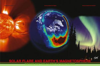 Solar Flare and Earth's Mag poster print by  Unknown