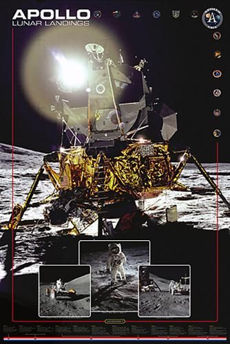Apollo II Lunar Landings poster print by  Unknown