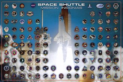 Space Shuttle - Mission Insignias poster print by  Unknown
