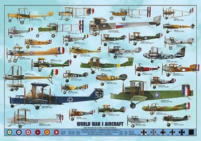 World War I Aircraft poster print by  Unknown