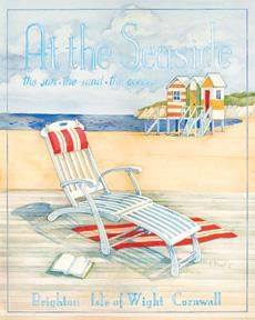 At The Seaside - Mini poster print by Paul Brent