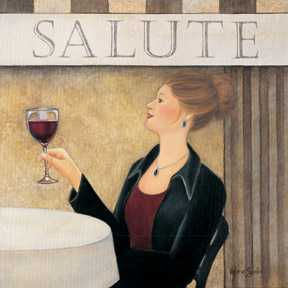 Salute II poster print by Valerie Sjodin
