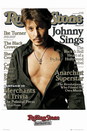 Johnny Depp -Rolling Stone Cover 2 poster print by  Unknown