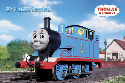 Thomas and Friends Blue Engine poster print by  Unknown