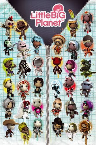 Little Big Planet Compilation poster print by  Unknown