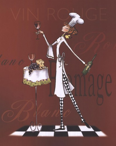 Sassy Chef II poster print by Mara Kinsley
