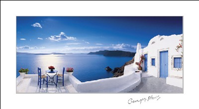 Greek Patio Georges Meis Art Prints Amp Posters