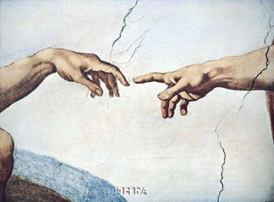 Hands Of God And Man poster print by  Michelangelo
