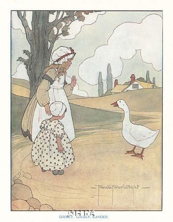 Goosey, Goosey, Gander poster print by Blanche Fisher Wright