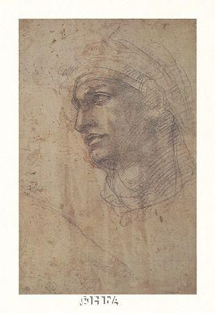 Head Of Adam poster print by  Michelangelo
