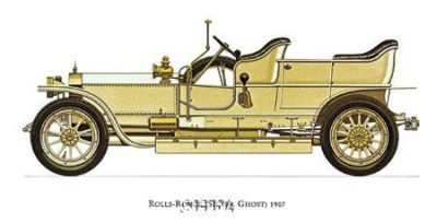Rolls-Royce (Silver Ghost) 1907 poster print by Antique -Anon Cars