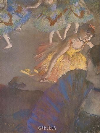 Ballerina And Lady With Fan poster print by Edgar Degas