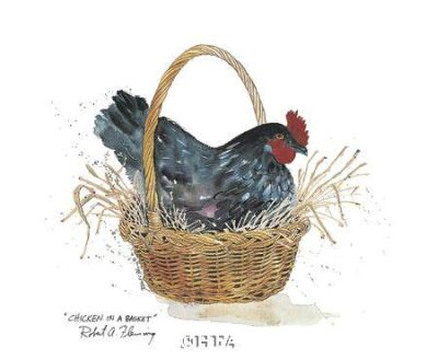 Chicken In A Basket poster print by Robert a Fleming