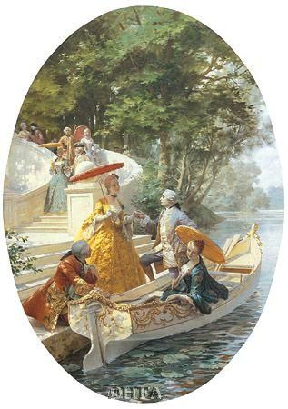 Boating Party poster print by Maurice Leloir