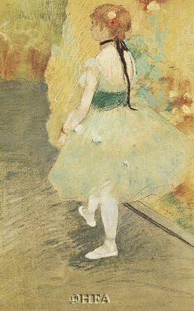 Dancer In Green poster print by Edgar Degas