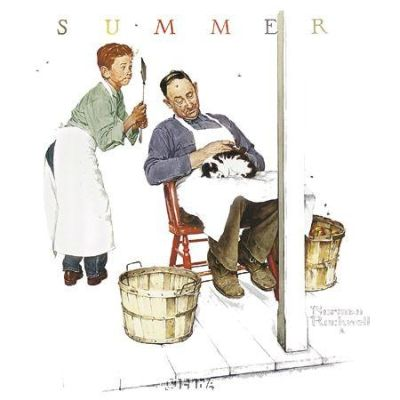 Swatter's Rights poster print by Norman Rockwell