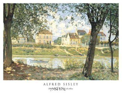 Petit Village De Bords De Seine poster print by AlfredSisley
