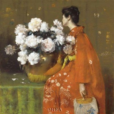 Spring Flowers poster print by William Merritt Chase