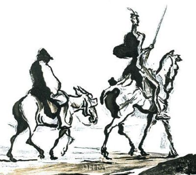 Don Quichote poster print by Honore Daumier