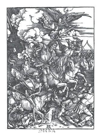Four Horsemen Of The Apocalypse poster print by Albrecht Durer