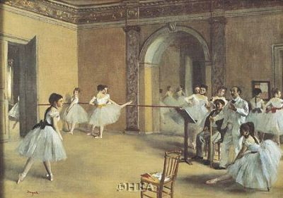 Dance Foyer At The Opera poster print by Edgar Degas