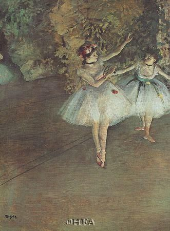 Two Dancers poster print by Edgar Degas