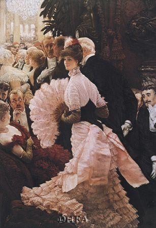 Reception (L'ambitieuse) poster print by James Tissot