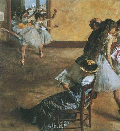 Ballet Class poster print by EdgarDegas