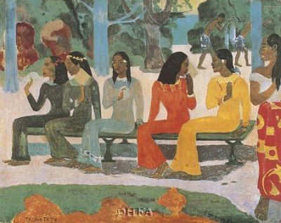 Ta Matete poster print by Paul Gauguin