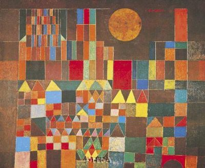 Castle And Sun poster print by Paul Klee