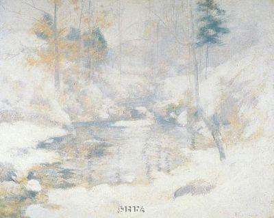 Winter Harmony poster print by John HenryTwachtman