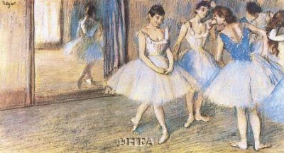 Dance Greenroom poster print by Edgar Degas