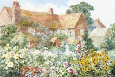 Cottage In Summer poster print by Sidney Shelton