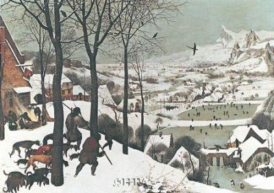 Winterhunters In The Snow poster print by PieterBruegel